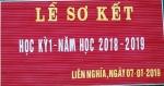 LỄ SƠ KẾT PHÁT THƯỞNG HKI NĂM HỌC 2018 - 2019